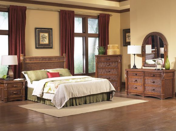 Barbados Rattan Bedroom Set of 5