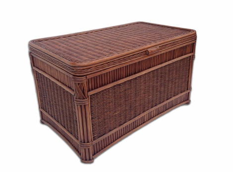 Barbados Rattan Storage Trunk Large
