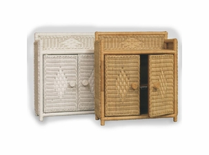 Bathroom Wicker Wall Cabinet