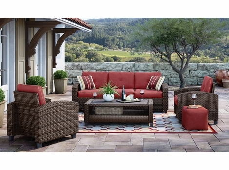 BAYBREEZE OUTDOOR WICKER SET
