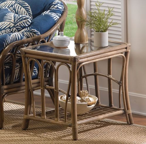 Bel Air Rattan End Table