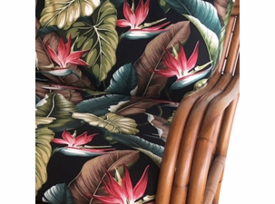 Birds Of Paradise Black Premium Cotton Fabric