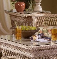 Biscayne Wicker End Table
