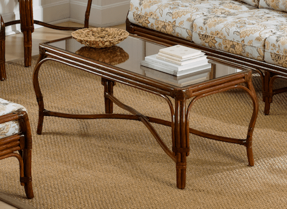 Bonita Springs Rattan Rectangular Coffee Table
