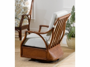 Bonita Springs Rattan Swivel Glider Chair