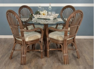 Bradenton Rattan Dining Set of 5 With Arm chairs