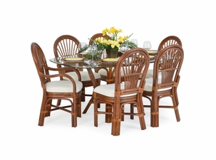 Bradenton Rattan Dining Set of 7