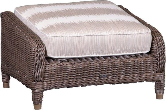 Brighton Outdoor Wicker Ottoman
