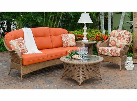 Buckingham Outdoor Wicker Collection - Driftwood Finish