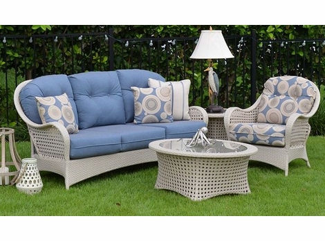 Buckingham Outdoor Wicker Collection - White Sand Finish