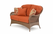 Buckingham Outdoor Wicker Loveseat - Driftwood Finish