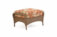 Buckingham Outdoor Wicker Ottoman - Driftwood Finish