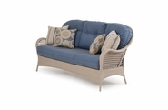 Buckingham Outdoor Wicker Sofa - White Sand Finish