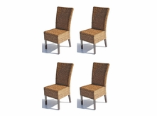 Cabo Seagrass Dining Chairs Set of 4