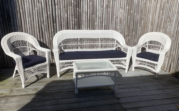 Cape Cod Outdoor Wicker - Sofa, 2 Chairs and Coffee Table Set