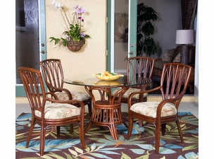 Capri Rattan Arm Chair Dining Set