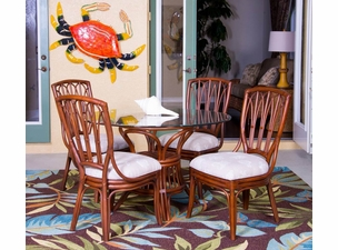 Capri Rattan Dining side chair Set