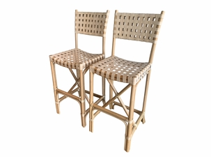 Cayman Rattan Back Barstool - Set of 2