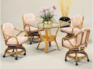 Classic Comfort Rattan Dining Set Of 5