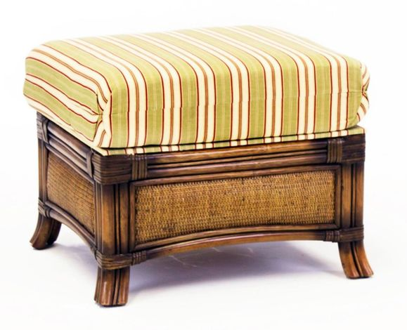 Clearwater Rattan Ottoman