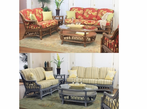 Destin Rattan Collection - In Cinnamon or Willow Finishes