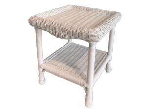 Diamond Wicker End Table