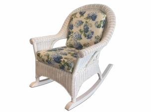 Diamond Wicker Rocker