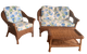 Diamond Wicker Set of 3 - Loveseat, Chair and Coffee Table