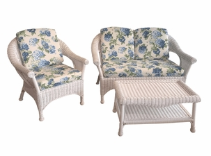 Diamond Wicker Set of 3 - Loveseat, Chair and Coffee Table-April 2021- Delivery
