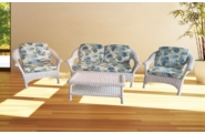 Diamond Wicker Set of 4 - 2 Chairs, Loveseat, End Table