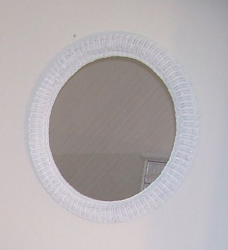 "Elana 24"" Round Wicker Mirror"