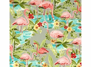 Flamingoing Platinum: Indoor/Outdoor Fabric