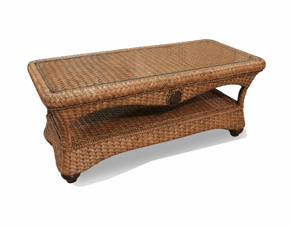 Fort Myers Rattan Coffee Table