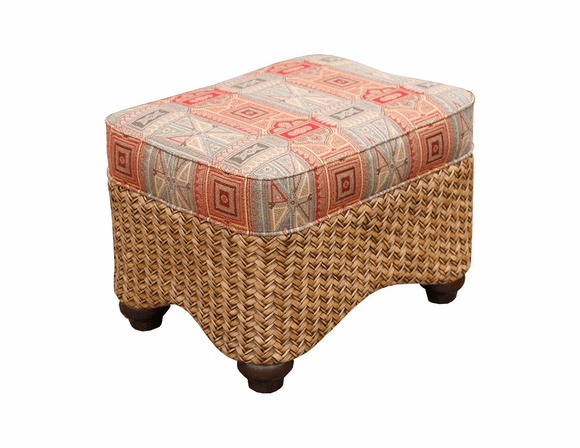 Fort Myers Rattan Ottoman
