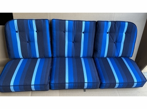 Front Porch Sofa Cushions Milano Cobalt-Closeout only 1 set available