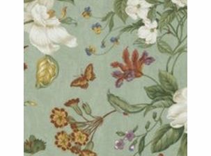 Garden Images Sage: Indoor Cotton Fabric