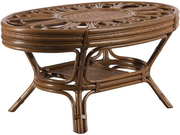 Grand Cayman Rattan Coffee table With Glass Top