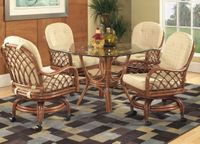 Grand Isle Castered Dining Chairs Set of 4-Chairs ONLY (table Not included)