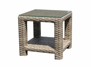 Grand Staffod Outdoor Wicker End Table