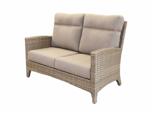Grand Staffod Outdoor Wicker Loveseat
