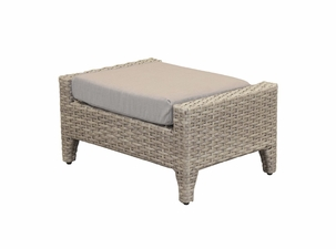 Grand Staffod Outdoor Wicker Ottoman