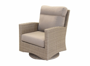 Grand Staffod Outdoor Wicker Swivel Glider Chair