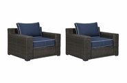 Grasson Outdoor Wicker Chair-Set Of 2
