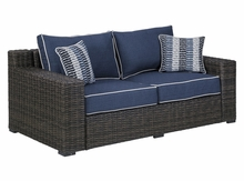 Grasson Outdoor Wicker Loveseat