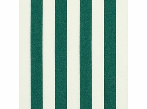 Green White Stripe: Sunbrella Fabric