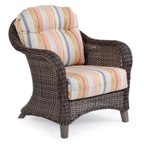 Island Way Outdoor Wicker Chair- Vintage Walnut Finish