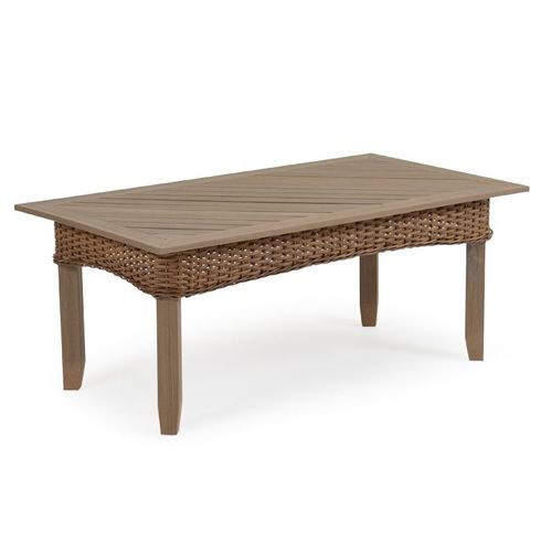 Island Way Outdoor Wicker Cocktail Table - Nutmeg Finish