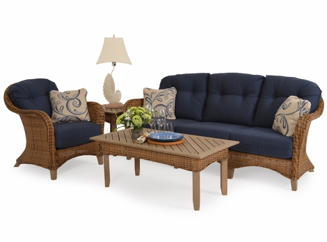 Island Way Outdoor Wicker Collection - Nutmeg Finish