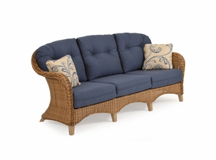 Island Way Outdoor Wicker Sofa - Nutmeg Finish