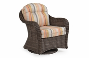 Island Way Outdoor Wicker Swivel Chair- Vintage Walnut Finish